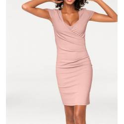 Sleeveless knit dress in pink by ASHLEY BROOKE