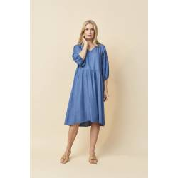 Dress XXL with lyocell material Amarie blue, front